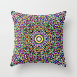 Floral Bohemian Magic Mandala Throw Pillow