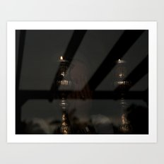 Shabbos Candles Art Print