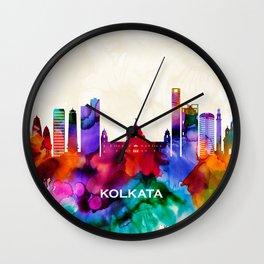 Kolkata Skyline Wall Clock
