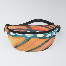 Monarch Butterfly Wings Watercolor Abstract Fanny Pack