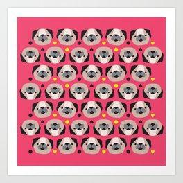 Pug Lovers I Art Print