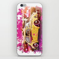 volkswagon iPhone & iPod Skins featuring yellowinpink beetle bug by Vector Art