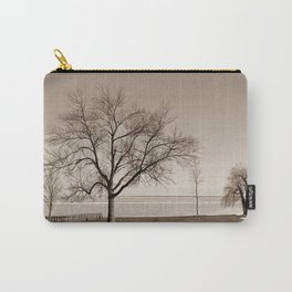 Lakeside Winter - Sepia Carry-All Pouch