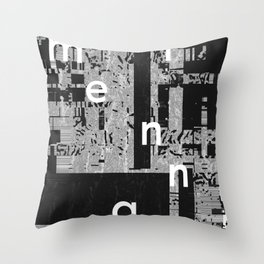 EXIT: existentialist quotes, Sartre Throw Pillow