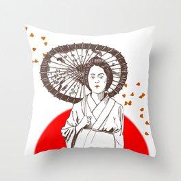 Farewell My Concubine Throw Pillow