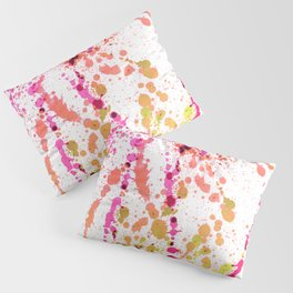 Uplifting Heat - Abstract Splatter Style Pillow Sham