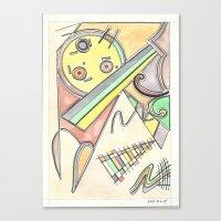 kandinsky Canvas Prints featuring Kandinsky Re-imagined (2014) by Eli Dorman