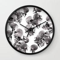 skulls Wall Clocks featuring Skulls by Rik Reimert