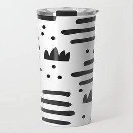 Abstract scandinavian art Travel Mug