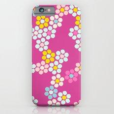 Flower tiles in hot pink iPhone 6s Slim Case