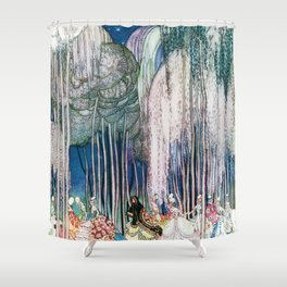 Kay Nielsen - Twelve Princesses Who Get Out Of The Castle And Dance To The Magical Kingdom Shower Curtain