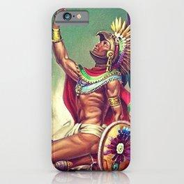 Caballero Aguila Aztec Scout Portrait by Jesus Helguera iPhone Case