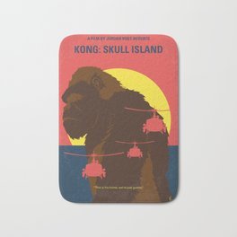 No799 My SKULL ISLAND minimal movie poster Bath Mat