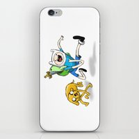 finn and jake iPhone & iPod Skins featuring Finn & Jake by Dan Bingham