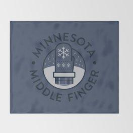Minnesota Middle Finger Throw Blanket
