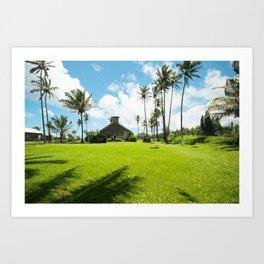 Lanakila 'ihi'ihi O Iehowa O Na Kaua Church Keanae Maui Hawaii Art Print