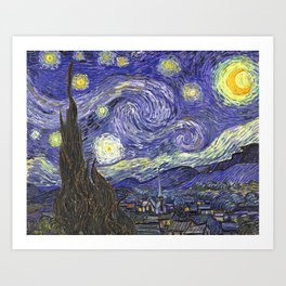 Van Gogh Job Art Print
