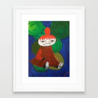 moomin Framed Art Prints featuring Little My by Nita Bond
