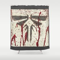 last of us Shower Curtains featuring Well, that's the last of us Fireflies. by Art by Ash