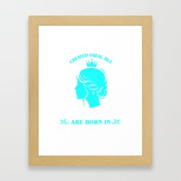 All Women created Equal But The best Are Born In October (3) Framed Art Print