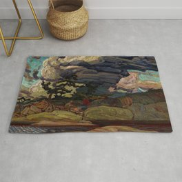 The Elements by James Edward Hervey MacDonald - Canada, Canadian Oil Painting - Group of Seven Rug