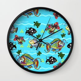 Dead Fish Society Wall Clock