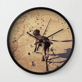beachdog Wall Clock