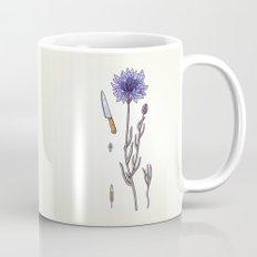 blue cornflower and knife Mug