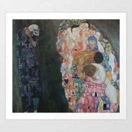 Life and Death - Gustav Klimt Art Print