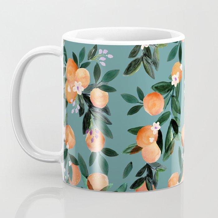 Dear Clementine - oranges teal by Crystal Walen Kaffeebecher