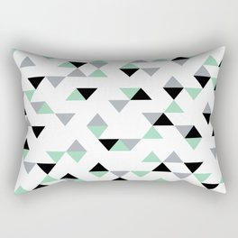 Triangles Mint Grey Rectangular Pillow