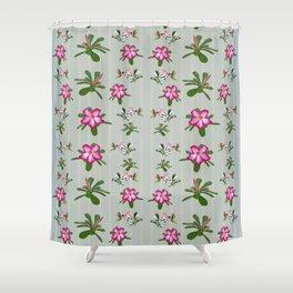 Desert Rose and Hummingbird Patterns Shower Curtain
