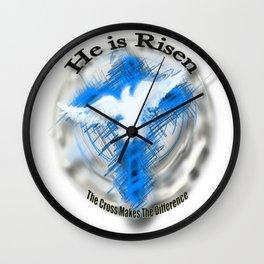 Jesus Christ - He is Risen. Wall Clock