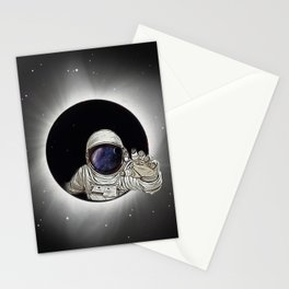 Black Hole Astronaut Stationery Cards