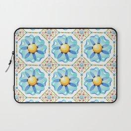 Blue Daisy Boho Laptop Sleeve