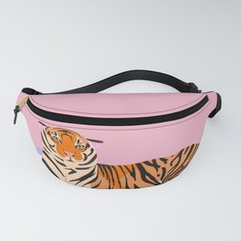 The Boss Tiger laying on the couch Fanny Pack