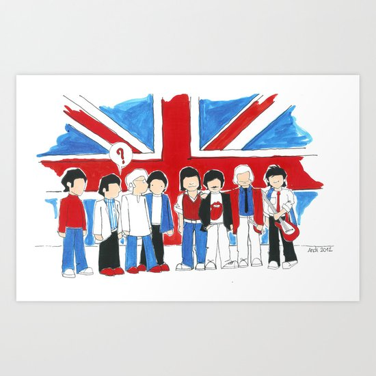 Les Petits Great Britain Art Print
