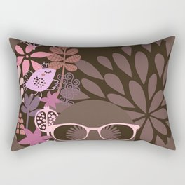 Afro Diva : Sophisticated Lady Pink Taupe Lavender Rectangular Pillow
