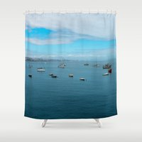 boats Shower Curtains featuring boats  by xp4nder