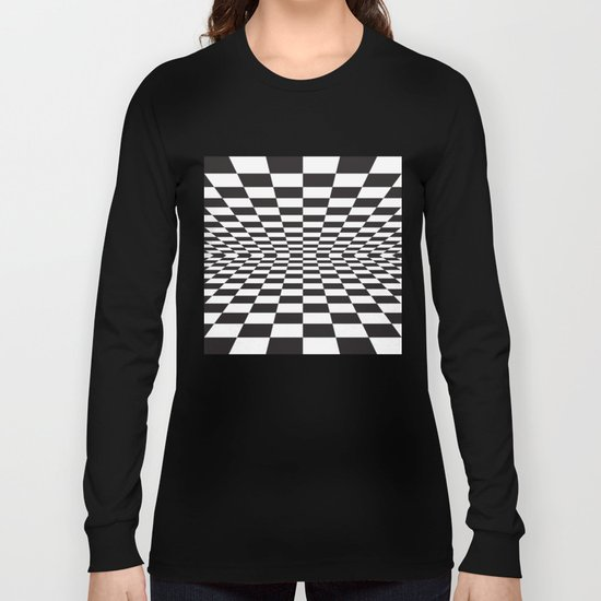 Black and white back and forth - Optical game 15 Long Sleeve T-shirt