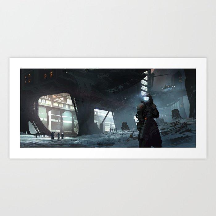 Cobalt Station Art Print