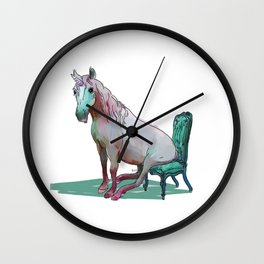 animals in chairs #22 The Unicorn Wall Clock