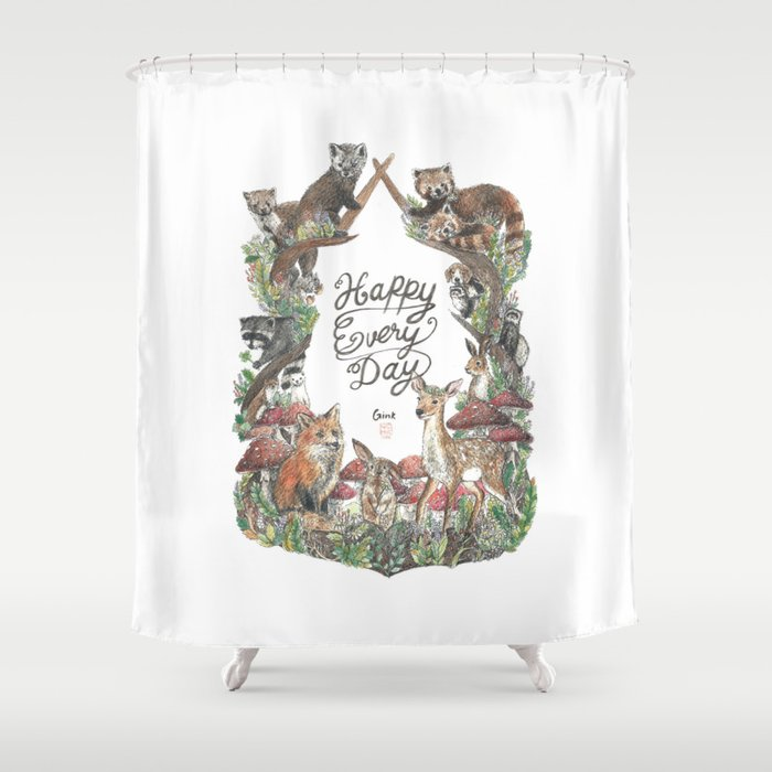 Happy Every Day! Shower Curtain
