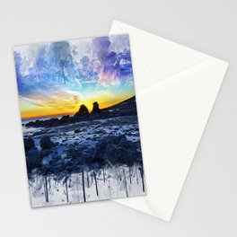 Ocean Sunset Painting Stationery Cards
