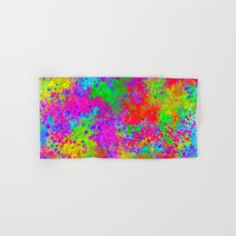 Colorful Abstract Art - Watercolor painting Hand & Bath Towel