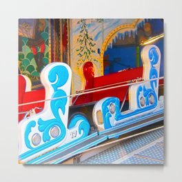 Fast-paced sledging Metal Print