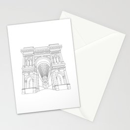 Milan, Italy - Galleria Vittorio Emanuele II Stationery Cards