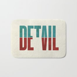 Devil in the detail. Bath Mat