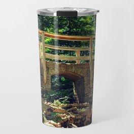 Stone Arched Bridge Amidst The Forest Travel Mug