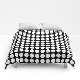 Black and white polka dot pattern . Comforters